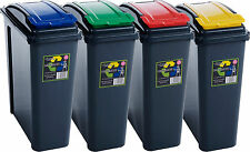NEW 25L RECYCLE RECYCLING PLASTIC WASTE BIN BINS FOR KITCHEN HOME OFFICE RUBBISH