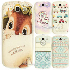 New Cute Paint Pattern Hard Back PC Skin Case Cover for Samsung Galaxy S3 S4 S5