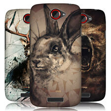 HEAD CASE POLY SKETCH PROTECTIVE SNAP-ON HARD BACK CASE COVER FOR HTC ONE S