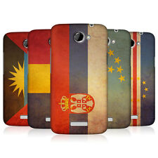 HEAD CASE VINTAGE FLAGS SET 5 PROTECTIVE SNAP-ON BACK CASE COVER FOR HTC ONE X