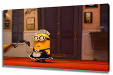 Wall Art Canvas Picture Print of Minion Maid  Framed