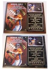 Peyton Manning #18 Record 55 TD Passes 5477 Yds Denver Broncos NFL Photo Plaque