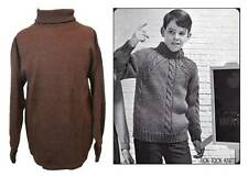 childrens vintage polo necked jumpers 60's ski base layer brown WW2 book day