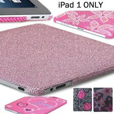 Apple iPad 1 1st Gen - Crystal Diamond Bling Hard Protector Case Cover Backplate