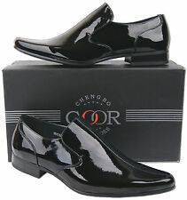New Mens Black Patent Leather Lined Formal Wedding Dress Shoes Free Uk Postage