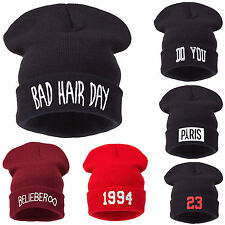 Men's Women's Bad Hair Day New Comme Beanie Hat Hats DISOBEY Wasted Youth SWAG