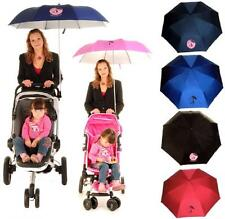 PUSH CHAIR BUGGY PRAM PARASOL BROLLY SUN SHADE BABY UV PROTECTION CLIP UMBRELLA