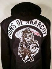 AUTHENTIC SONS OF ANARCHY BLUE DENIM HIGHWAY REAPER PATCH LINED JACKET S-4XL