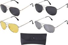 Aviator Sunglasses Air Force Style Military Polarized Sunglasses w/ Case - 58 MM