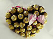 Valentine Hand Made Chocolate Heart-Shaped Bouquet, Unique Present, Lovely Gift