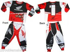 Youth Honda Pajama 2pc PJ's Pajamas Sleepwear Dirt Bike Supercross- 5 Boys Sizes