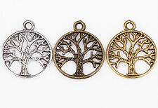 100pcs Metal Life of Tree Charms Pendants 20mm Silver/Golden/Bronze