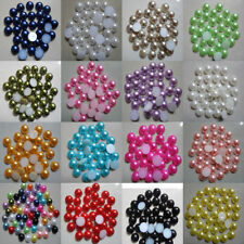 Wholesale 2000pcs Half-round Flatback Acrylic Pearl Beads For Nail Art Phone