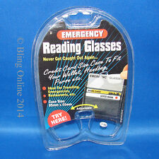 EMERGENCY READING GLASSES COMPACT FIT IN WALLET PURSE HANDBAG TRAVEL, PRINCE NEZ