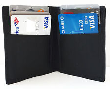 Men's GENUINE LEATHER ID Window  6+ Credit Cards Thin Bifold Wallet Sleek THIN