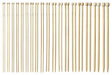 "14"" Bamboo Knitting Needles 18 Pairs Single Pointed Set 2-10mm Smooth Craft"