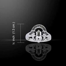 Celtic Spiral Ring TRI899 Size Selectable