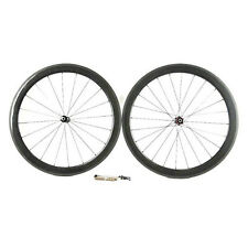 Carbon Fiber Road Bike Wheelset 60mm 3K Tubular Rim Shimano/Sram 9/10/11 Speed
