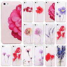 Various Flower Painted Phone Hard Back Skin Case Cover for Apple IPhone4 4S 5 5S
