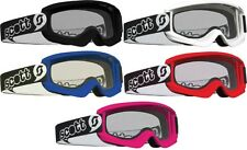 Scott Youth Agent Goggles Black White Blue Red or Pink or Clear Replacement Lens