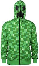 Minecraft Creeper Premium Zip-up Adult Hoodie