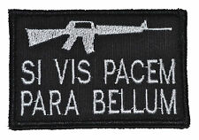 """AR SI VIS PACEM PARA BELLUM 2""""x3"""" Hat Patch Police Military Morale Funny Velcro"""