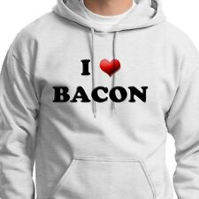I LOVE BACON Funny Pork Humor T-shirt Meat Candy Gag Gift Hoodie Sweatshirt