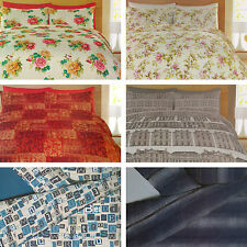 Catherine Lansfield Home Cotton Rich Percale Duvet Quilt Cover Bedding Set