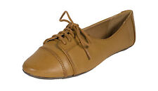 Kungfu! City Classified Women's  Leatherette Oxford Flats in Brown Leatherette