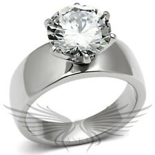 4c ROUND SOLITAIRE ENGAGEMENT RUSSIAN LAB CREATED SIM DIAMOND WEDDING RING TK520