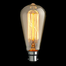 Vintage loop carbon filament light bulb incandescent  Edison style 40 w 60 w BC