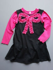 Love U Lots Mulberribush Black Denim Knit Dress 2T, 3T, 4T, 4, 5, $58 NWT