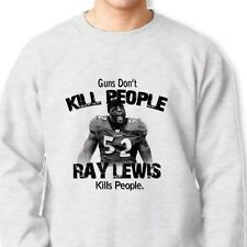 Guns Don't Kill People Ray Lewis Does Ravens Tee Jersey NFL Crew Neck Sweatshirt