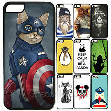 Fashion Animal Style Plastic Hard Back Case Cover Skin fr Apple iPhone 4 4S 5 5S
