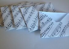 Music envelopes handmade from prints of manuscripts various sizes &  gift cards