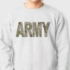 ARMY Camo Letters US Military T-shirt Training Tactical Crew Neck Sweatshirt