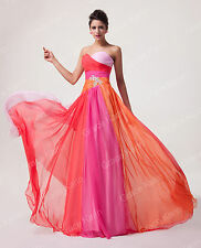 New Colorful Chiffon Long Formal Evening Bridesmaid Bridal Prom Party Dress Gown