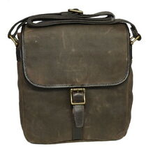 Fossil Estate Calvary Twill City Crossbody Shoulder Bag with Leather Trims