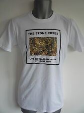 THE STONE ROSES LIVE ON GLASGOW GREEN LOGO MENS T-SHIRT MADCHESTER BROWN SQUIRE