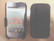 HUAWEI ASCEND II M865 HARD BACK CASE w/ HOLSTER BELT CLIP w/ STAND