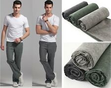 NEW-Mens Linen Slacks Thin Trousers Summer Smart 8 Colors Casual Pant W28-W46