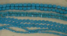 blue/turquoise Magnesite beads/tube,flat round,nugget /BUY 4 GET 1 FREE (w259)