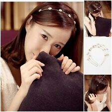Korean Shining Rhinestone Crystal Hair Bands Womens Temperament Thin Headband