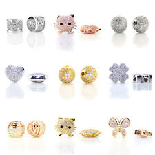 2pc Micro Pave Setting CZ Crystal Cubic Zirconia Handmade Jewelry Findings Beads