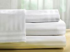 Bed Skirt 1-Piece Tailored Stripe White 1000Thread Count Choose Desired Size