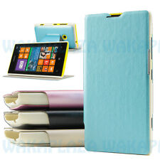 For Nokia Lumia 525 520 KLD Swift Slim PU Leather Flip Case Stand Cover RM-998