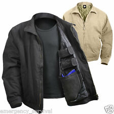 3 Season Concealed Carry Tactical Jacket in Black or Khaki Tan Beige