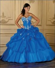 Elegant Brt Blue Quinceanera Dresses Prom Ball Gowns Size 4+6+8+10+12+14+16