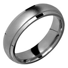 Mens Titanium Ring 6mm Wide Comfort Fit Promise Wedding Band Size 13