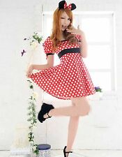 Adult Women Minnie Mouse Costume Halloween Clubwear Fashion Outfit Fancy Dress